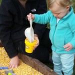 children's corn play pit