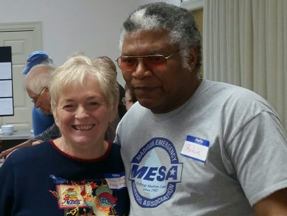 Two of Mesa's volunteers at an appreciation function